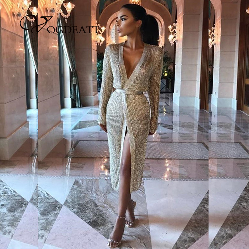 0565e52c63 Detail Feedback Questions about Women Knitted Casual Long Sleeve Dresses  Outfit Vestidos Wide Lapel Belt Winter Female Party New Chic Plus Size  Night Club ...
