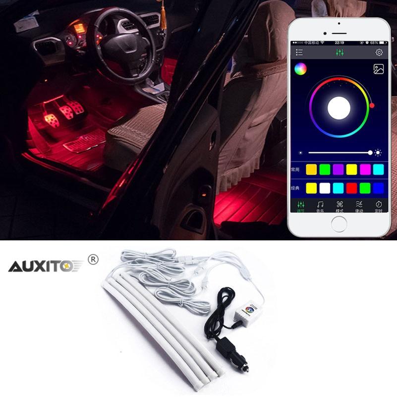 4 in 1 car led interior lights for mitsubishi outlander lancer 10 9 asx pajero sport l200 colt. Black Bedroom Furniture Sets. Home Design Ideas