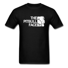 Tops 2017 The Pitbull Face Funny Design Luxury Pit Bull Man Tshirt Short Sleeve Tee Shirts New Arrival Men's Humorous T Shirts