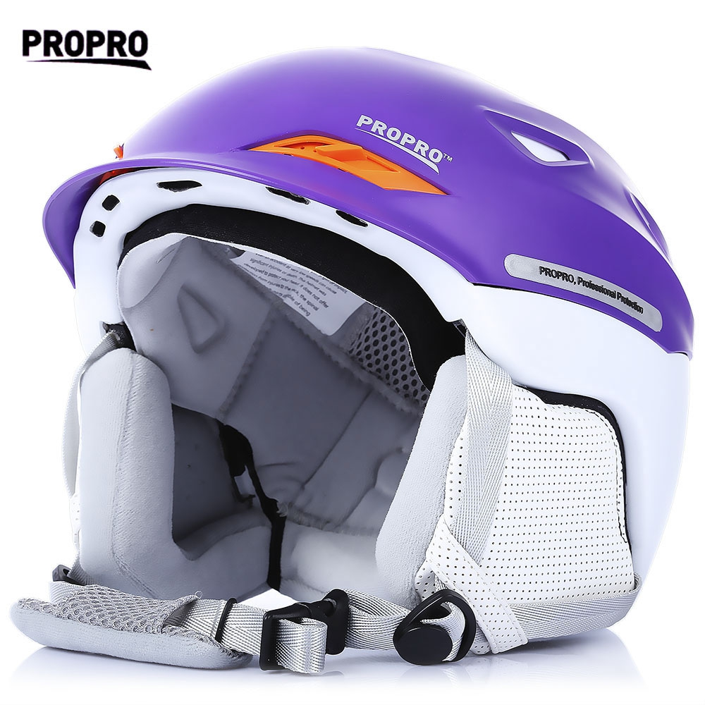 PROPRO One-piece Skiing Helmet with Inner Adjustable Buckle Liner Cushion Layer Sports Safety Helmets EPS and PC Keep Warm pink ski helmets cover motorcycle skiing helmets best outdoor safety helmet for skiing snowboard skating adult men women