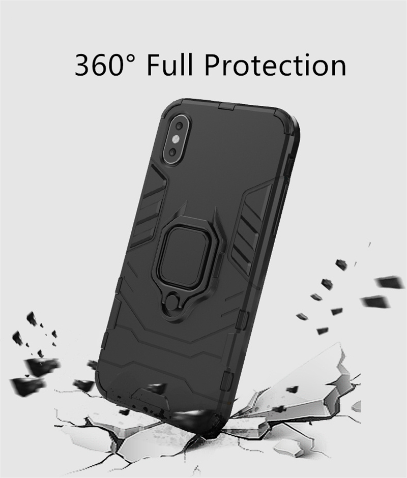 Image 4 - Armor Case OPPO RX17 Neo Silicone Cover Magnetic Metal Finger Ring Holder Case For OPPO RX17 Neo Hard Phone Case OPPO K1 Fundas-in Fitted Cases from Cellphones & Telecommunications