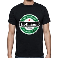 Unique Adults Hofmann LSD Beer Label T Shirt Stretchy Organic Cotton Print Mens T Shirts Medium
