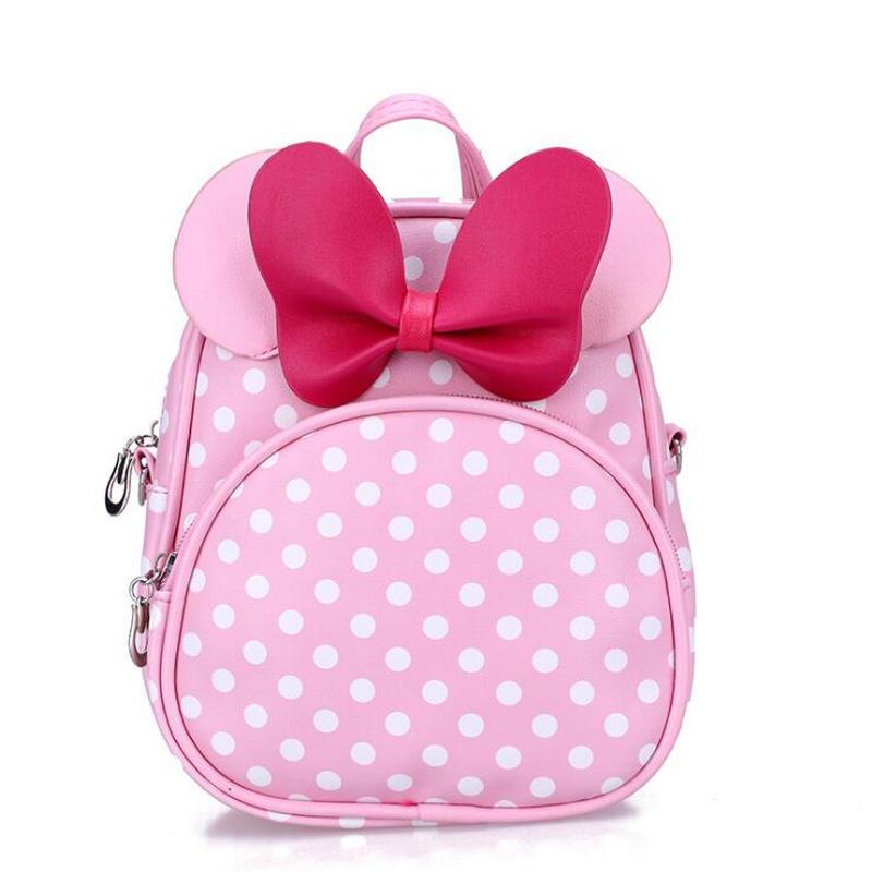 New PU Children School Bag Minnie For Girls Baby Bag Children Leather Backpack Kindergarten Backpack Kid School Bags Satchel