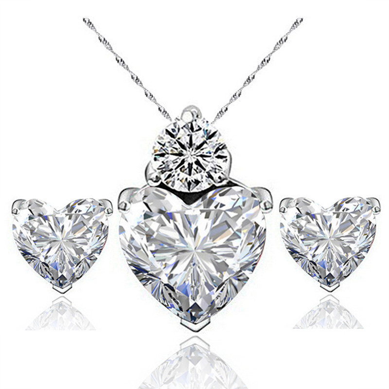 LIVVY 2016 Austria popular crystal necklaces and Zircon Earrings for luxury suite ladies jewelry