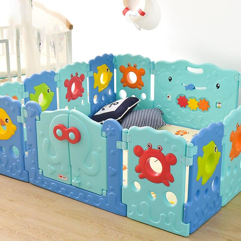 Babysafe детские манежи детская игра ползать колодки малыша ограждения животных мультфильм безопасности забор детские домашние забор