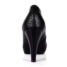 Universe Snake Skin Print Genuine Leather Women Shoes Platform super High HeeL Round Toe Pumps Plus Size Shoes C058
