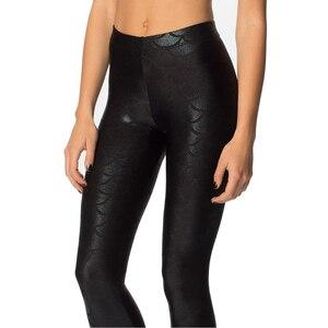 Image 2 - Pantalones de moda para mujer, Leggings con estampado Digital, sirena pez escamas, LXH
