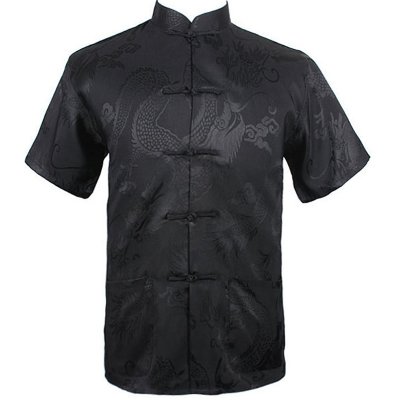 Wholesale And Slae Brand New Arrival Chinese Traditional Men's Dragon Kung Fu Shirts Tops M L XL XXL 3XL MS2015039