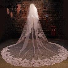 Bridal biały/welon długość dwuwarstwowe