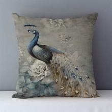 18″ peacock cushion cover cojines cushion pillow cover cushions home decor decorative chair