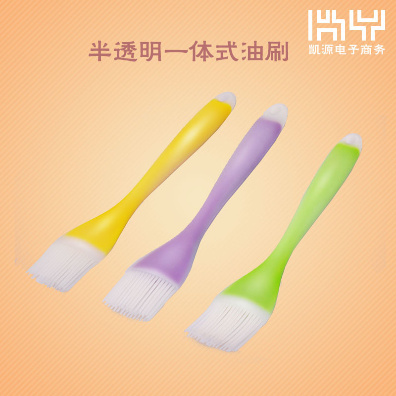 Transparent barbecue brush translucent one silicone brush Oil brush cream egg brush ...