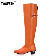 Size 30-47 Women Flat Over Knee Boots Ladies Riding Fashion Long Snow Boot Warm Winter Brand Botas Footwear Shoes P9982