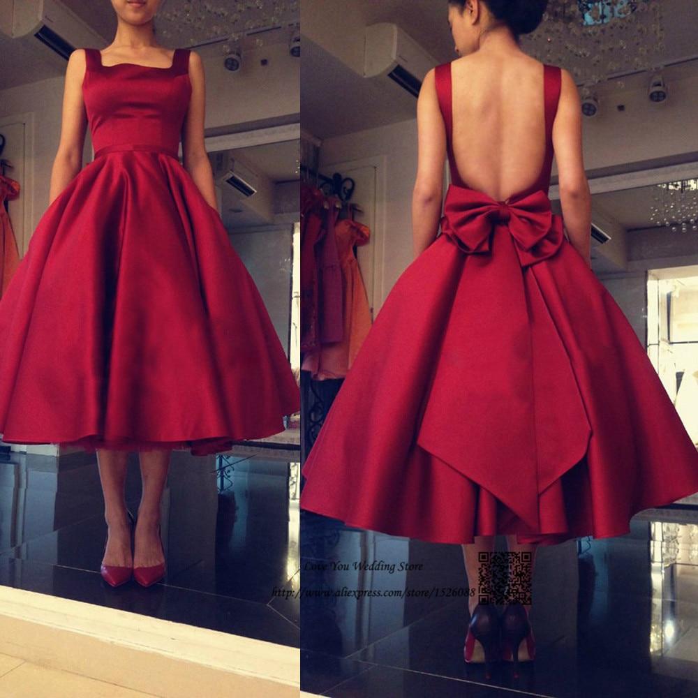 Burgundy Evening Dresses 2016 Short Prom Dress Backless