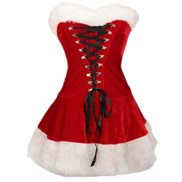 Xxl Size Plus M 2016 Jurk Fluwelen Kerst Sexy Deluxe Dames 0wOPkX8Nn