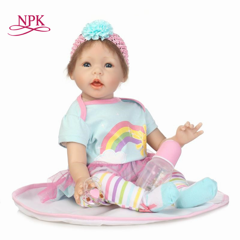 NPK COLLECTION lifelike boneca reborn baby doll vinyl silicone soft real touch fashion doll Christmas gift one yaer old gift