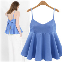 Fashion Pleated Hem Solid Color Camis Top Shirt Women Camisole Vest Clothing Plus Size XL-5XL
