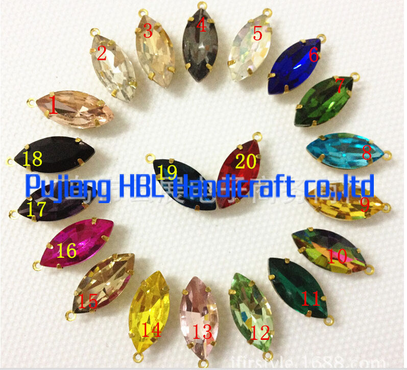 7x15mm 30pcs/pzck Crystal Navette One Claws Fancy Stone Bling Crystal Marquise Pointback Crystal Beads Dress Accessary