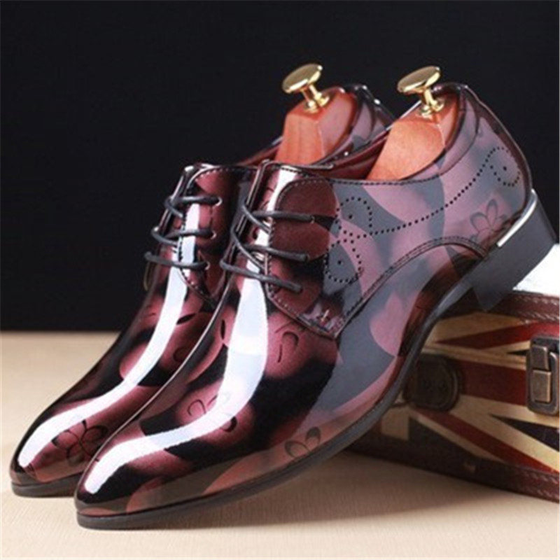 Luxury Classic Patent Leather Oxford Cloth Men's Dress Shoes Men's Dress Pointed Business Wedding Shoes Dress Shoes Dance Shoes