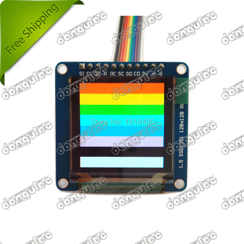 SSD1351 OLED Breakout Board 16 bit Color 1 5 w microSD holder for arduino