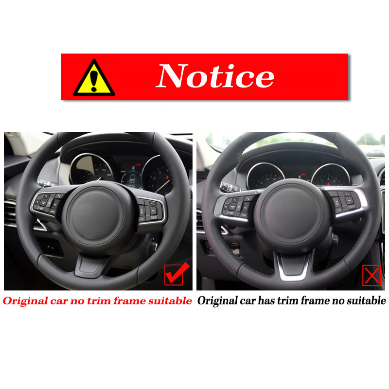 Carbon Fiber ABS Interior Steering Wheel Trim For Jaguar XE//XF//F-Pace 2015-2017