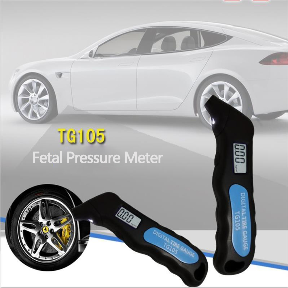 Car Auto Tire Gauge Reads Talking Tyre Air Pressure LCD 99 PSI Portable