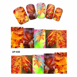 Image 4 - 12 PACK/ LOT  WATER DECAL NAIL ART NAIL STICKER SLIDER FULL COVER RED YELLOW MAPLE TREE AUTUMN FALLING LEAF LEAVES  UP25 36