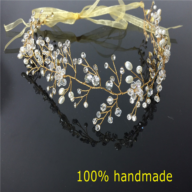 Gorgeous Crystal Bridal Headband Wedding Rhinestone Headbands Hair Accessories Bridal tiaras Bride Ribbon Headbands RE597