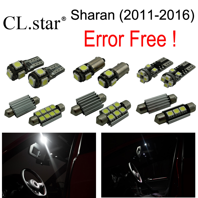 17pc X  Canbus Error free for Volkswagen Sharan LED bulb interior light full kit package (2011-2016) 18pc canbus error free reading led bulb interior dome light kit package for audi a7 s7 rs7 sportback 2012