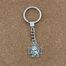 20pcs KeychainCross Jesus Christ Religion Alloy Charms Pendants Key Ring Travel Protection DIY Accessories A-491f