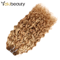 #P27/613 Brazilian Water Wave Bundles Hair Highlight Honey Blonde Bundles Remy Human Hair Weave Bundles Ombre Hair Extensions