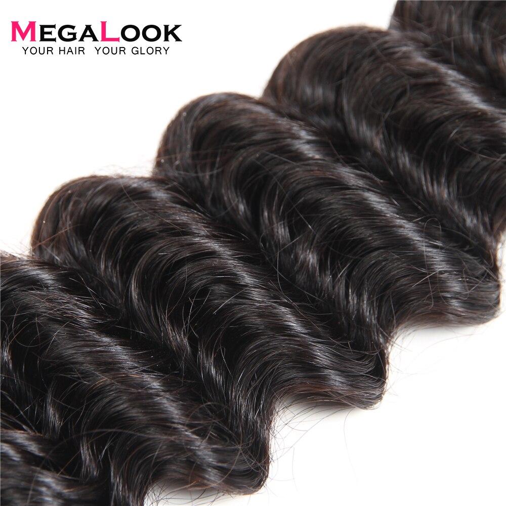 Megalook อินเดีย Deep Wave ผม 3 pcs ลึก Human Hair Extension 8 36 นิ้ว Remy ผมขยายสาน-ใน ช่อผมผสม จาก การต่อผมและวิกผม บน AliExpress - 11.11_สิบเอ็ด สิบเอ็ดวันคนโสด 1