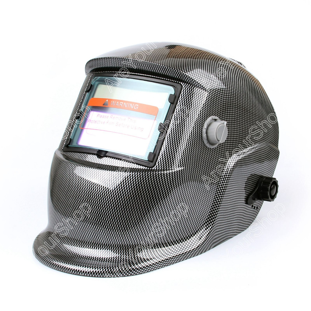 Areyourshop Welding Helmet Arc Tig Mig Mask Grinding Welder Solar Powered Mask 1Pcs High Quality Black for Welding Machine bqlzr dc12 24v black push button switch with connector wire s ot on off fog led light for toyota old style