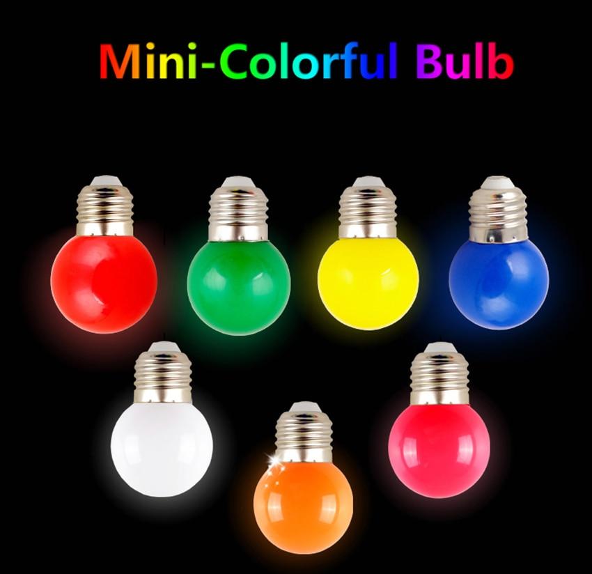 RGB ED Light Bulb G45 3W E27 220V Globe Bombillas Colorful Red Blue Green Yellow Orange White for Chrismas Wedding Decoration