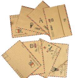 8 Stks/pak Vintage Kraftpapier Envelop Gemaild Postkaart Cover Wenskaarten Envelop Kantoor En Schoolbenodigdheden
