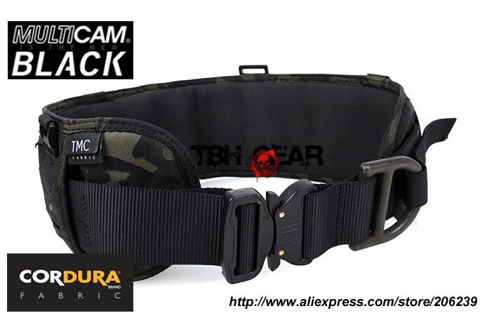 TMC Laser-Cut PALS Padded Belt Rigger Belt Multicam Black Tactical MOLLE Belt+Free shipping(SKU12050590)