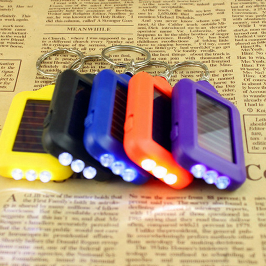 Portable Super Mini Light LED FlashLight Key Ring Torch 3 LED Keychain Lamp For Gift
