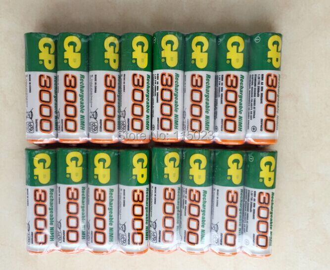 Brand New 2016 0riginal 4pcs/Lot GP 1.2V NiMh AA 3000 mAh Battery Rechargeable AA Batteries pilas recargables free shipping