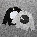 2016 Otoño y la primavera de La Camiseta Para Los Niños Los Niños Camiseta de Algodón Niños Niñas Tops Camisetas niños y niñas Fresco de La Camiseta CS083