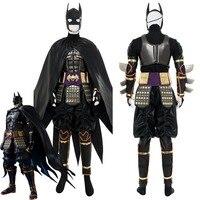 2018 Movie Batman Ninja Batman Cosplay Costume Outfit Suit Cape Action Figure Version Adult Men Halloween Carnival Costumes