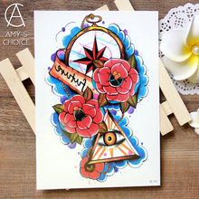 Water Transfer Flash Fake Sticker Sex Products Waterproof Temporary Tattoo The Rock Style Eye body bling tattoo 3d