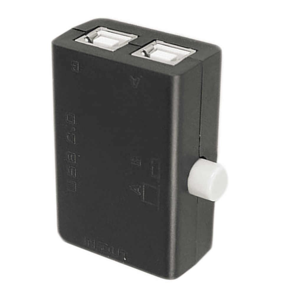 Горячая Высокое качество Новый USB обмен хаб разъемов коробка концентратор 2 порта ПК компьютерный Сканнер принтер руководство Горячая Акция оптовая продажа