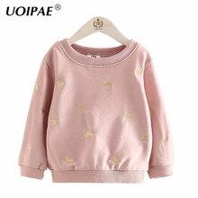 Child T Shirt Girls Autumn 2017 Casual Love Pattern Girls T Shirt Sweatshirts Long Sleeve O-neck Simple Kids Clothes B0473