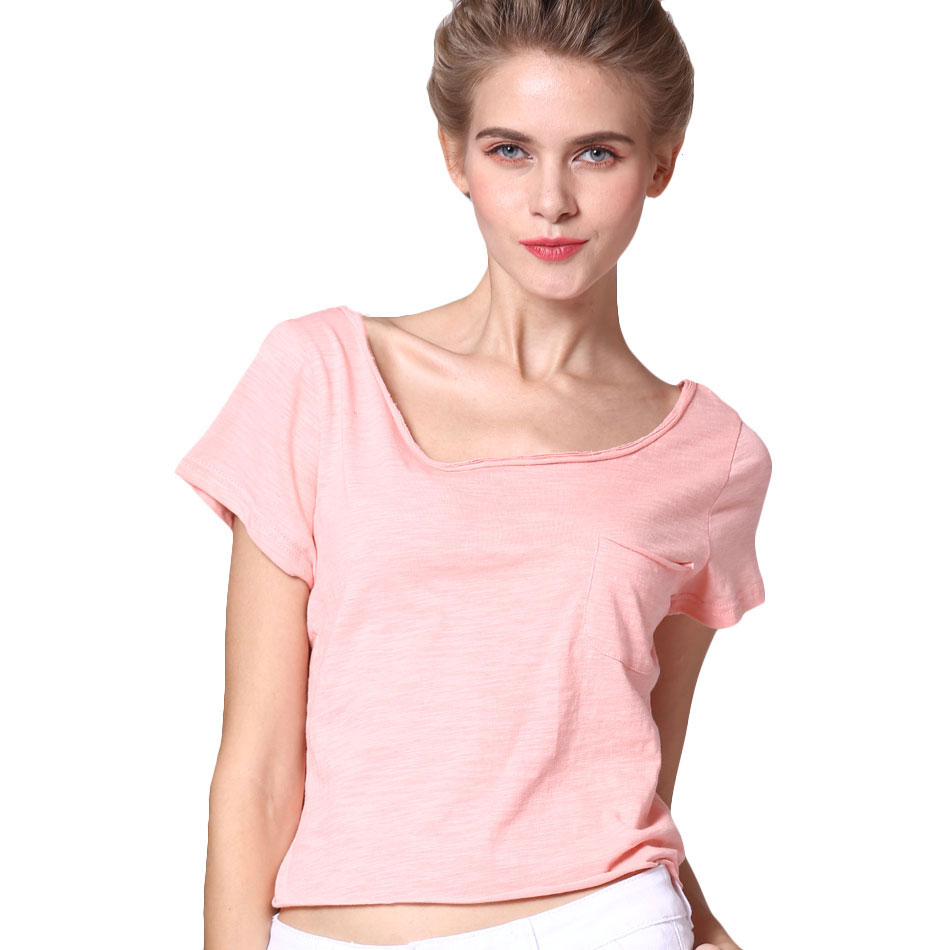 Backless Sexy Tops Plus Size Casual Women T Shirt Cotton Angel ...