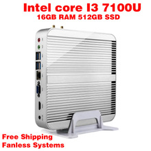 Мини-ПК Intel 7e Gen Кабы Lac Windows 10 i3 7100U 16 ГБ RAM 512 ГБ SSD 300 М Wi-Fi TV Box Бесплатная Доставка usb 3.0 компьютер