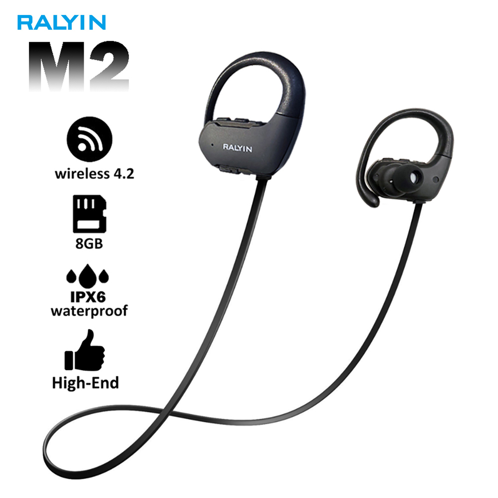 Ralyin 8GB mp3 font b player b font bluetooth headphone sport waterproof wireless headset bluetooth music