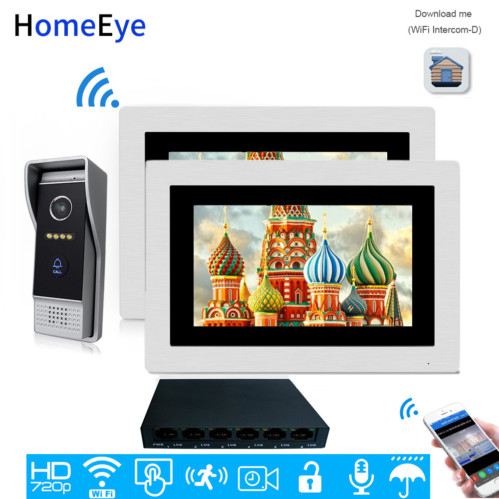 HomeEye 720P WiFi IP Video Door Phone Video Intercom Home Access Control System Android/IOS APP Remote Unlock Motion Detection