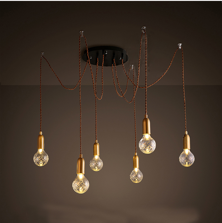 Modern Pendant Light Spider Pendant Lamp Multiple Adjustable Pendant Lights Classic Decorative Fixture Lighting included Bulbs 9lights e27 diy ceiling spider pendant lamp shade light antique classic adjustable retro chandelier dining home lighting fixture