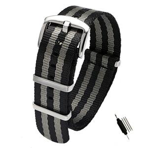 Image 2 - 20mm 22mm Seat Belt Nylon NATO Zulu Strap Heavy Duty Military Watch Band Replacement Watch Straps Black Blue Grey James Bond