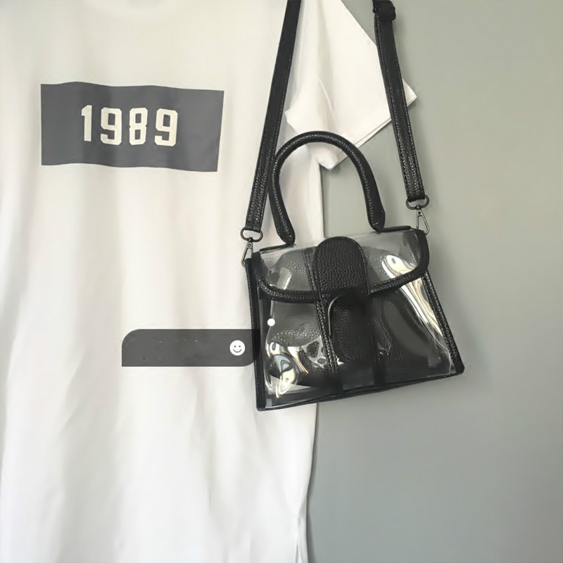 df75e1f0f9 Lady Handbags Designer Tote Bag See-through Shoulder Bags Clear Transparent  Jelly Bag