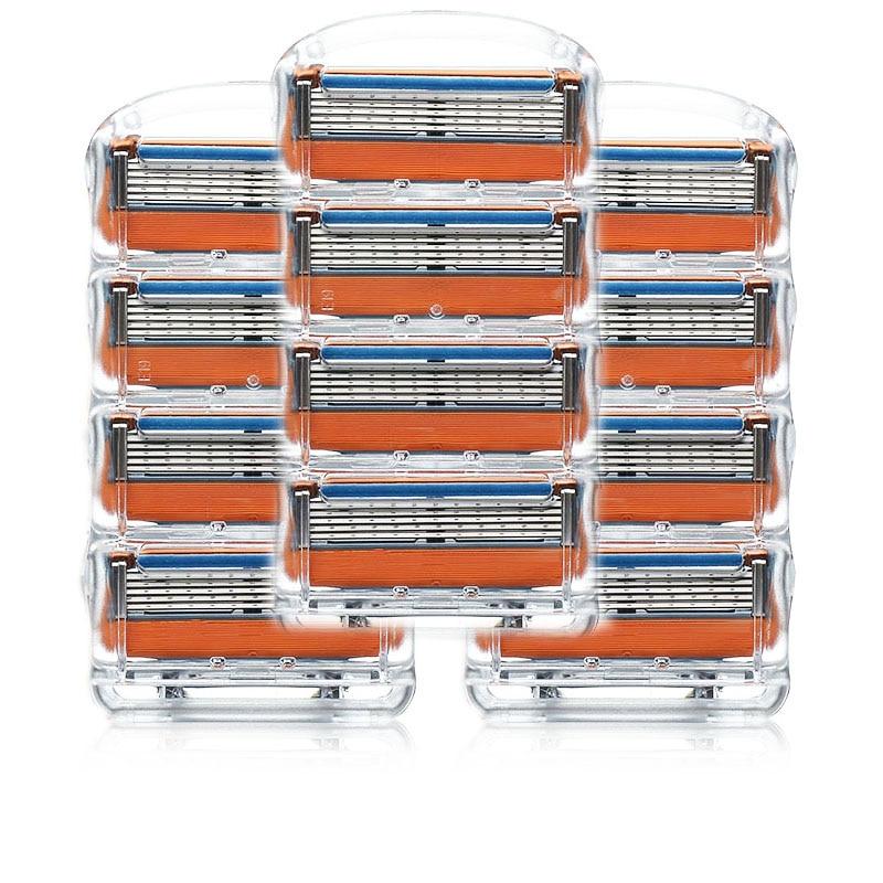 12 unids/lote hoja de afeitar para hombres cuchillas de afeitar seguridad cuchillas de cinta máquina de traje para Gillette fusión proglide